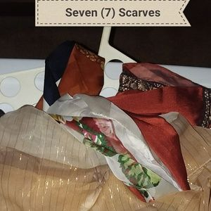 Seven (7) Scarf Collection - Browntones